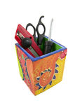 Tool Box. With cutter and scissors Royalty Free Stock Photo