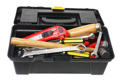 Tool Box. On White Background royalty free stock images