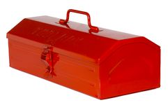 Tool Box. Red tool box isolated on white background royalty free stock image