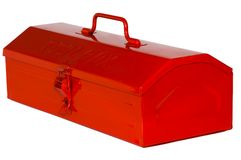 Tool Box. Red tool box isolated on white background stock image