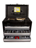 Tool box. Professional tool box with drawers and 'diy' tools royalty free stock photos