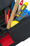 Tool in the box. Tools in the tool box close-up stock image