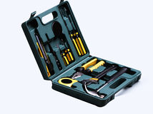Tool box. Elegant tool box, all kinds of hand tools Stock Image
