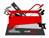 Tool Box. Is original artwork. The vector file is in AI-EPS8 format royalty free illustration