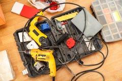 Tool box of carpenter Stock Photo