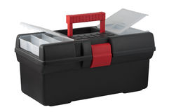 Tool box with compartments for small items in a cover. Stock Images