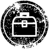 Tool box distressed icon. A creative illustrated tool box distressed icon image vector illustration