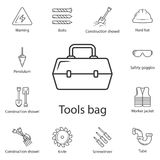 Tool box icon. Simple element illustration. Tool box symbol design from Construction collection set. Can be used for web and mobil. E on white background stock illustration