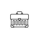 Tool box line icon, build repair elements Stock Image