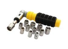Tool-box met moersleutelSe Stock Afbeelding
