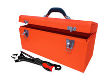 Tool box. Orange tool box isolated on white background Royalty Free Stock Photo