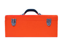 Tool box. Orange tool box isolated on white background Stock Images