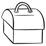 Tool box outline Royalty Free Stock Photos