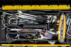 Tool box. A box set of basic tools that  you should have in your home Royalty Free Stock Photos