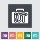 Tool box single flat icon. Royalty Free Stock Photos