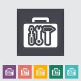 Tool box single flat icon. Vector illustration Royalty Free Stock Photos