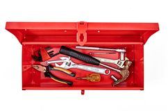 Tool Box. A studio photo of a industrial tool box Royalty Free Stock Image