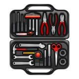 Tool Box With Toolkit Set Royalty Free Stock Photo