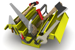 Tool box with tools Stock Photography