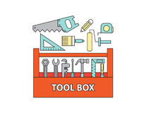 Tool box , vector Stock Images