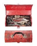 Tool Box on a white background. Tool Box opens on a white background Stock Photo