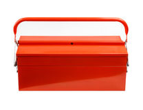 Tool box on white background. Royalty Free Stock Photography