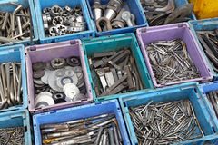 Tool in boxes Royalty Free Stock Photo