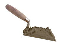 The tool of the builder of the mason a shovel Stock Images