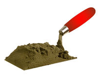 The tool of the builder of the mason a shovel Stock Photos