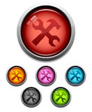 Tool button icon Stock Photos