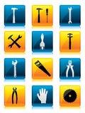 Tool button set Stock Image