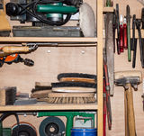 Tool Cabinet (detailed shot) Stock Photography