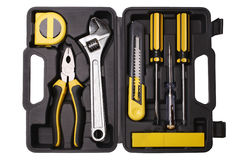 Tool case with tools Royalty Free Stock Images