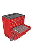 Tool Chest. 7 Drawer Tool Chest with tools in an open drawer
