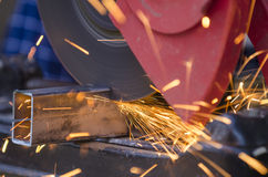 Tool cutting metal Stock Image