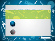 Tool design website template Royalty Free Stock Images