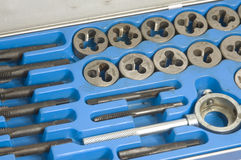 Tool and die set. For threading pipe royalty free stock photography