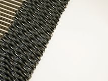 Tool. Drills in a row. White isolated background royalty free stock images