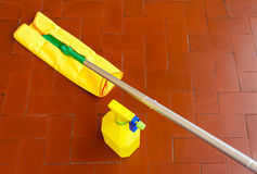 A tool for dusting the floors and the cleaner to wash it. Capture dust and wash  the floor Royalty Free Stock Images