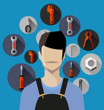 Tool equipment icon Royalty Free Stock Images