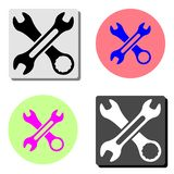 Tool. flat vector icon. Tool. simple flat vector icon illustration on four different color backgrounds vector illustration
