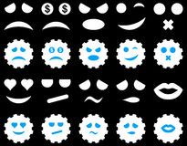 Tool, gear, smile, emotion icons Stock Images