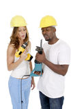 Tool Girl and Guy 1 Royalty Free Stock Images