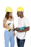 Tool Girl and Guy 3 Royalty Free Stock Photos