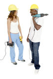 Tool Girl and Guy 4 Royalty Free Stock Image