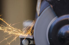 Tool grinding metal Stock Images