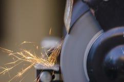 Tool grinding metal Royalty Free Stock Photo