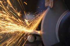 Tool grinding metal Royalty Free Stock Photos