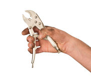 Tool in a hand Stock Photography