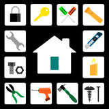 Tool home icon  Stock Image